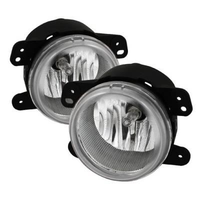 Headlights & Tail Lights - Fog Lights - Spyder - Jeep Wrangler Spyder OEM Fog Lights - Clear - FL-DM05-C