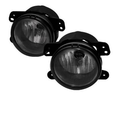 Headlights & Tail Lights - Fog Lights - Spyder - Jeep Wrangler Spyder OEM Fog Lights - Smoke - FL-DM05-SM