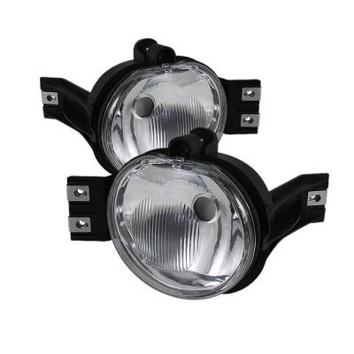 Headlights & Tail Lights - Fog Lights - Spyder - Dodge Durango Spyder OEM Fog Lights - No Switch - Clear - FL-DR02-OEM-C