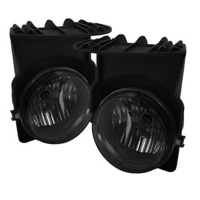 Headlights & Tail Lights - Fog Lights - Spyder - GMC Sierra Spyder OEM Fog Lights - Smoke - FL-GS03-SM