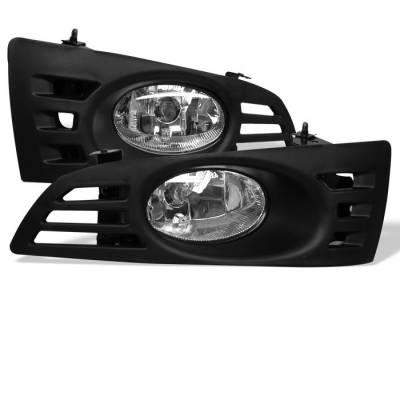 Headlights & Tail Lights - Fog Lights - Spyder - Honda Accord 2DR Spyder OEM Fog Lights - Clear - FL-HA03-2D