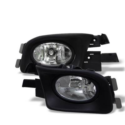 Headlights & Tail Lights - Fog Lights - Spyder - Honda Accord 4DR Spyder OEM Fog Lights - Clear - FL-HA03-4D