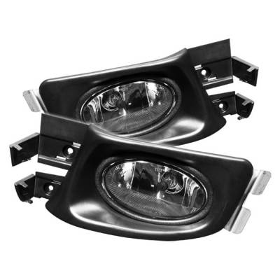 Headlights & Tail Lights - Fog Lights - Spyder - Honda Accord 4DR Spyder OEM Fog Lights - Smoke - FL-HA03-4D-SM