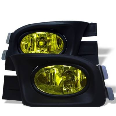 Headlights & Tail Lights - Fog Lights - Spyder - Honda Accord 4DR Spyder OEM Fog Lights - Yellow - FL-HA03-4D-Y