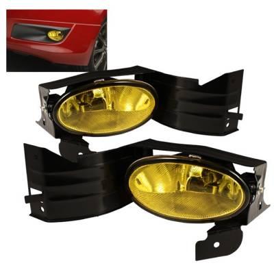Headlights & Tail Lights - Fog Lights - Spyder - Honda Accord 2DR Spyder OEM Fog Lights - Yellow - FL-HA08-Y