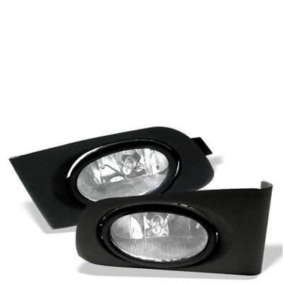 Headlights & Tail Lights - Fog Lights - Spyder - Honda Civic 2DR & 4DR Spyder OEM Fog Lights - Clear - FL-HC01