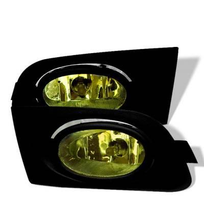Headlights & Tail Lights - Fog Lights - Spyder - Honda Civic 2DR & 4DR Spyder OEM Fog Lights - Yellow - FL-HC01-Y