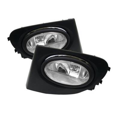 Headlights & Tail Lights - Fog Lights - Spyder - Honda Civic HB Spyder OEM Fog Lights - Clear - FL-HC03SI-3D