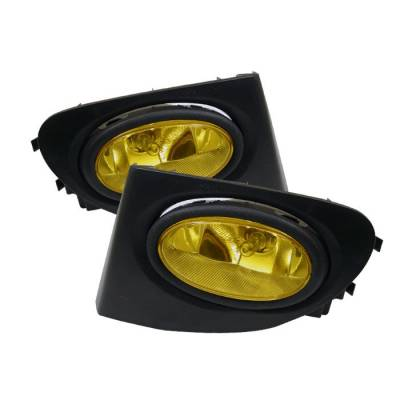 Headlights & Tail Lights - Fog Lights - Spyder - Honda Civic HB Spyder OEM Fog Lights - Yellow - FL-HC03SI-3D-Y