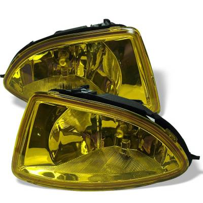 Headlights & Tail Lights - Fog Lights - Spyder - Honda Civic 2DR & 4DR Spyder OEM Fog Lights - Yellow - FL-HC04-Y