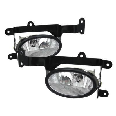 Headlights & Tail Lights - Fog Lights - Spyder - Honda Civic 2DR Spyder OEM Fog Lights - Clear - FL-HC06-2D