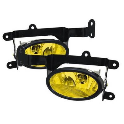 Headlights & Tail Lights - Fog Lights - Spyder - Honda Civic 2DR Spyder OEM Fog Lights - Yellow - FL-HC06-2D-Y