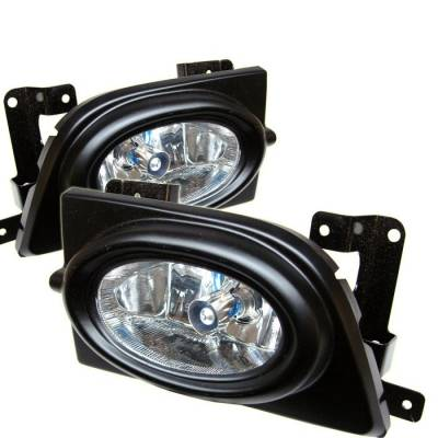 Headlights & Tail Lights - Fog Lights - Spyder - Honda Civic 4DR Spyder OEM Fog Lights - Clear - FL-HC06-4D