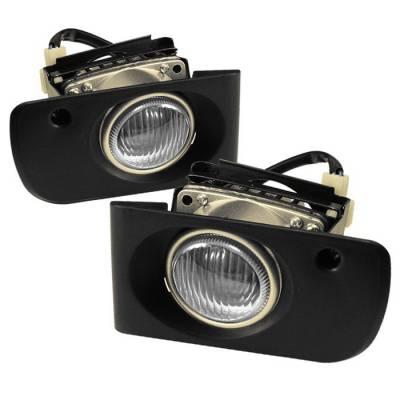 Headlights & Tail Lights - Fog Lights - Spyder - Honda Civic 4DR Spyder OEM Fog Lights - Clear - FL-HC92-4D-C
