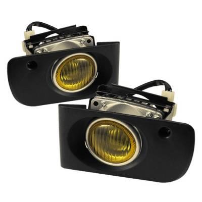 Headlights & Tail Lights - Fog Lights - Spyder - Honda Civic 4DR Spyder OEM Fog Lights - Yellow - FL-HC92-4D-Y