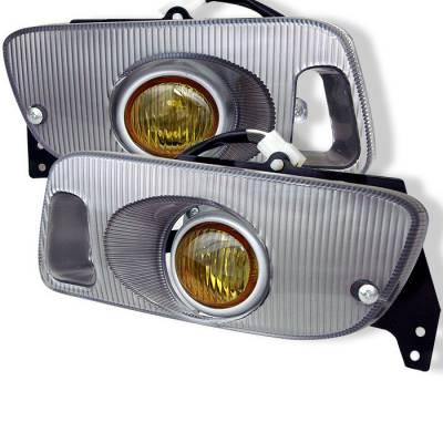 Headlights & Tail Lights - Fog Lights - Spyder - Honda Civic 2DR & 3DR Spyder OEM Fog Lights - Yellow - FL-HC92-Y