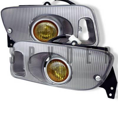 Headlights & Tail Lights - Fog Lights - Spyder Auto - Honda Civic 2DR Spyder OEM Fog Lights - Yellow - FL-HC92-Y