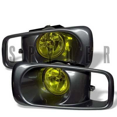 Headlights & Tail Lights - Fog Lights - Spyder Auto - Honda Civic Spyder OEM Fog Lights - Yellow - FL-HC99-Y