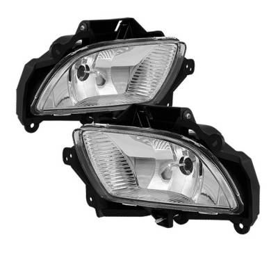 Headlights & Tail Lights - Fog Lights - Spyder - Hyundai Sonata Spyder OE Style Fog Lights - Clear - FL-HYS09-C
