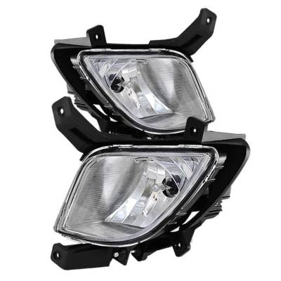 Headlights & Tail Lights - Fog Lights - Spyder - Hyundai Tucson Spyder OE Style Fog Lights - Clear - FL-HYTU2010-C