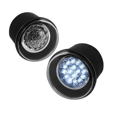 Headlights & Tail Lights - Fog Lights - Spyder - Dodge Charger Spyder LED Fog Lights - Clear - FL-LED-C300C05-C