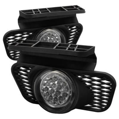 Headlights & Tail Lights - Fog Lights - Spyder - Chevrolet Silverado Spyder LED Fog Lights - FL-LED-CSIL03-C