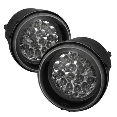Headlights & Tail Lights - Fog Lights - Spyder - Chrysler Pacifica Spyder LED Fog Lights - Clear - FL-LED-DCH05-C