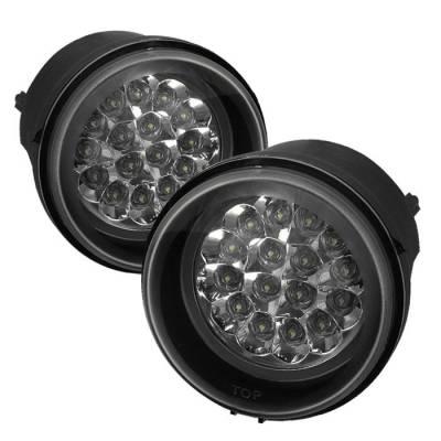 Headlights & Tail Lights - Fog Lights - Spyder - Jeep Patriot Spyder LED Fog Lights - Clear - FL-LED-DCH05-C