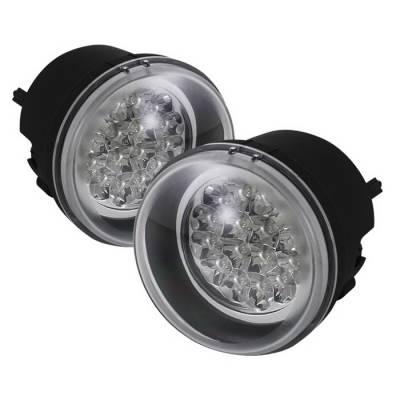 Headlights & Tail Lights - Fog Lights - Spyder Auto - Jeep Compass Spyder LED Fog Lights - Yellow - FL-LED-DCH05-Y