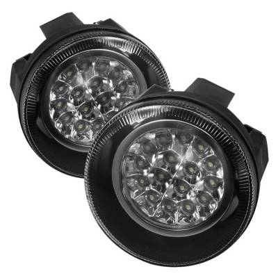 Headlights & Tail Lights - Fog Lights - Spyder - Dodge Dakota Spyder LED Fog Lights - Clear - FL-LED-DDAK01-C