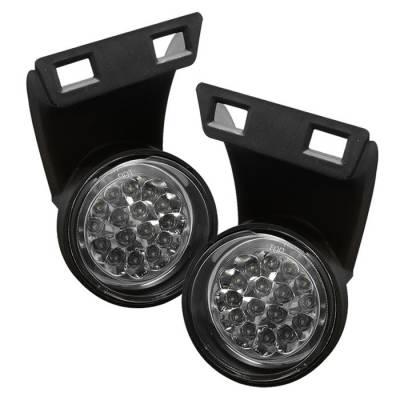 Headlights & Tail Lights - Fog Lights - Spyder - Dodge Ram Spyder LED Fog Lights - Clear - FL-LED-DRAM94-C