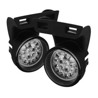 Headlights & Tail Lights - Fog Lights - Spyder Auto - Dodge Ram Spyder LED Fog Lights - Yellow - FL-LED-DRAM94-Y