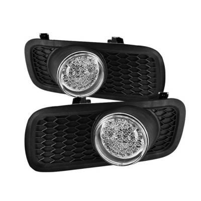 Headlights & Tail Lights - Fog Lights - Spyder - Lincoln Mark Spyder LED Fog Lights - Clear - FL-LED-FF15004-C