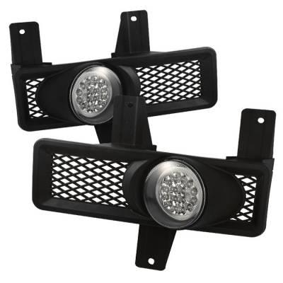 Headlights & Tail Lights - Fog Lights - Spyder - Ford F150 Spyder LED Fog Lights - Clear - FL-LED-FF15097-C