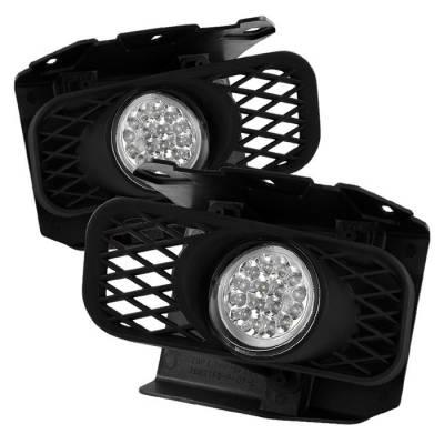 Headlights & Tail Lights - Fog Lights - Spyder - Ford F150 Spyder LED Fog Lights - Clear - FL-LED-FF15099-C