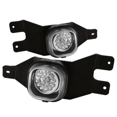 Headlights & Tail Lights - Fog Lights - Spyder - Ford F250 Spyder LED Fog Lights - Clear - FL-LED-FF25001-C