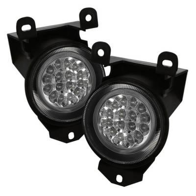 Headlights & Tail Lights - Fog Lights - Spyder - GMC Yukon Spyder LED Fog Lights - Clear - FL-LED-GD99-C