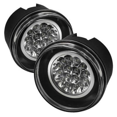 Headlights & Tail Lights - Fog Lights - Spyder - Jeep Commander Spyder LED Fog Lights - Clear - FL-LED-JGC05-C