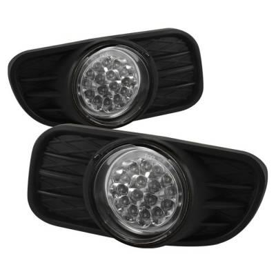 Headlights & Tail Lights - Fog Lights - Spyder - Jeep Grand Cherokee Spyder LED Fog Lights - Clear - FL-LED-JGC99-C