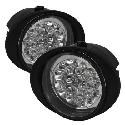 Headlights & Tail Lights - Fog Lights - Spyder - Nissan Murano Spyder LED Fog Lights - FL-LED-NA02-C