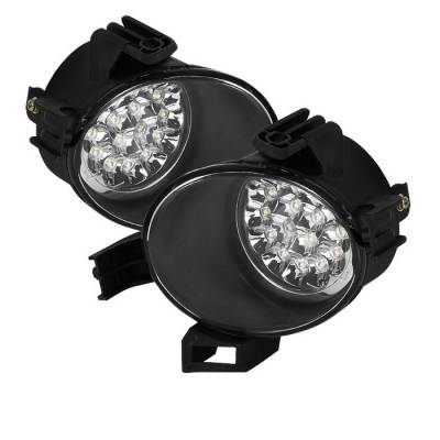 Headlights & Tail Lights - Fog Lights - Spyder - Nissan Altima Spyder LED Fog Lights - Clear - FL-LED-NA05-C