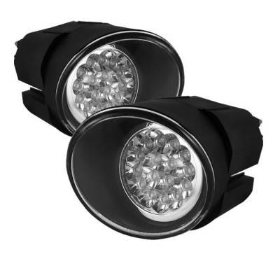 Headlights & Tail Lights - Fog Lights - Spyder - Nissan Sentra Spyder LED Fog Lights - Clear - FL-LED-NM00-C