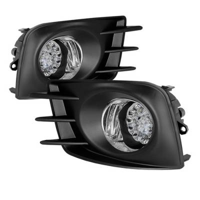 Headlights & Tail Lights - Fog Lights - Spyder - Scion tC Spyder LED Fog Lights - Clear - FL-LED-STC2011-C