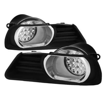Headlights & Tail Lights - Fog Lights - Spyder - Toyota Camry Spyder LED Fog Lights - Clear - FL-LED-TCAM07-C