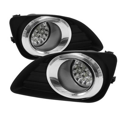 Headlights & Tail Lights - Fog Lights - Spyder - Toyota Camry Spyder LED Fog Lights - Clear - FL-LED-TCAM2010-C