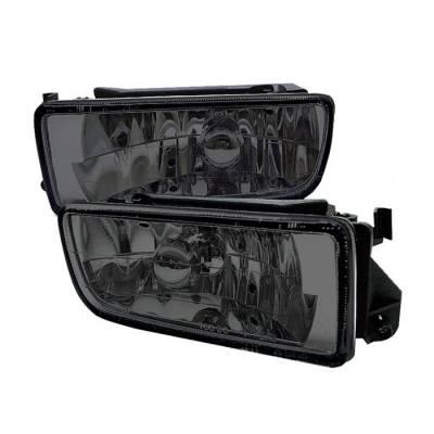 Headlights & Tail Lights - Fog Lights - Spyder - BMW 3 Series 2DR Spyder Euro Fog Lights - No Switch - Smoke - FL-LH-BE36-SM
