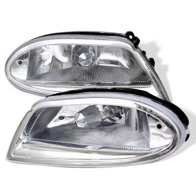 Headlights & Tail Lights - Fog Lights - Spyder - Mercedes-Benz ML Spyder Fog Lights - No Switch - Chrome - FL-MBW16398