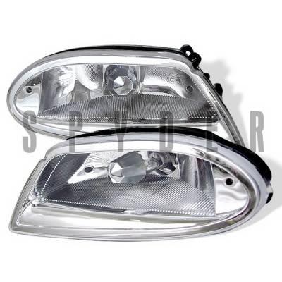 Headlights & Tail Lights - Fog Lights - Spyder Auto - Mercedes-Benz ML Spyder Fog Lights - Chrome - FL-MBW16398