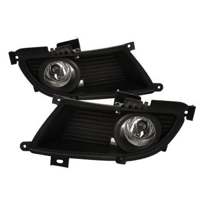 Headlights & Tail Lights - Fog Lights - Spyder - Mitsubishi Lancer Spyder OEM Fog Lights - Clear - FL-ML04-C