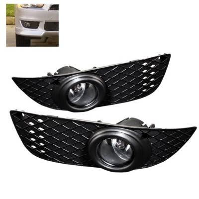 Headlights & Tail Lights - Fog Lights - Spyder - Mitsubishi Lancer Spyder OEM Fog Lights - Clear - FL-ML07-C